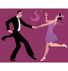 Dancing the Charleston vector image