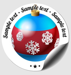 Christmas bauble sticker vector