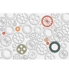 gears back vector image