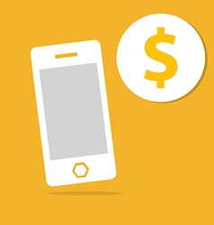 Business mobile and money icon vector