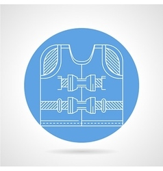 Life jacket white line icon vector