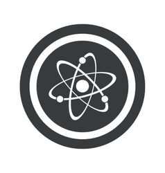 Round black atom sign vector