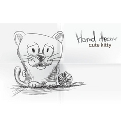 Cute cartoon kitty vector