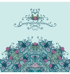 Decorative element congratulations card vector
