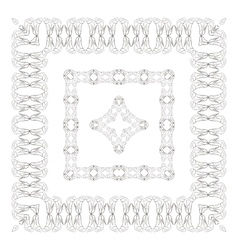 Set of intricate frames vector