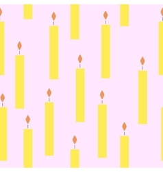 Seamless pattern with candles vector