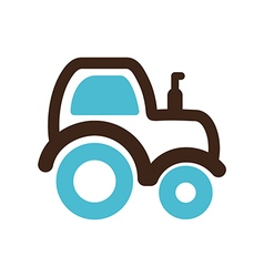 Tractor icon farm vector