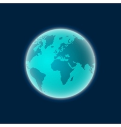 Earth from space  planet globe isolated vector