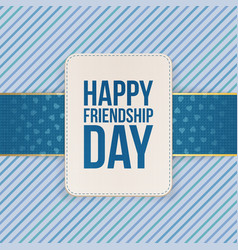 Happy friendship day sale special emblem vector