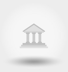 Administrative building icon vector