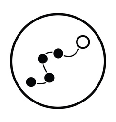 Anal balls on lace icon vector image