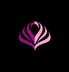 Beauty abstract flower geometry logo vector
