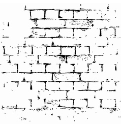 brick wall background grunge vector image