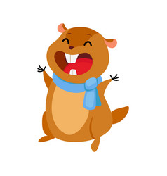cartoon groundhog vector image