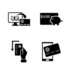 credit cards simple related icons vector image vector image