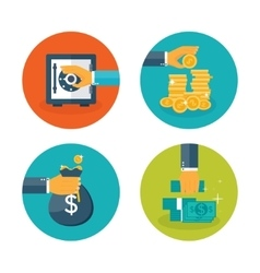Flat moneymaking background vector