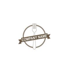 food fork company logo vector image