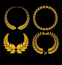 golden iaurel vector image