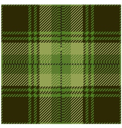 Green Tartan Pattern Design vector image