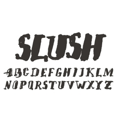 Grunge scratch type font vintage typography vector image vector image