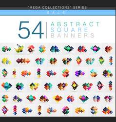 mega collection of 54 square geometrical web vector image