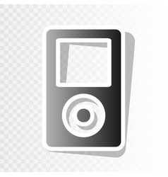 Portable music device new year blackish vector