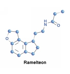 Ramelteon is a sleep agent vector image vector image