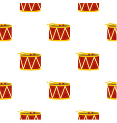 Red drum and drumsticks pattern seamless vector