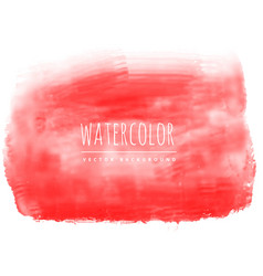 Red real watercolor stain vector