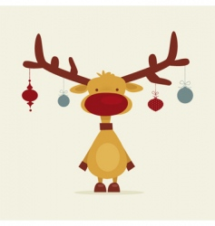 Retro reindeer vector