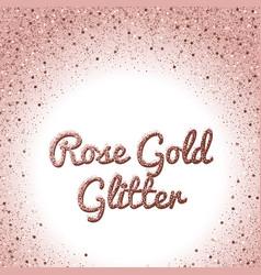rose gold glitter background pink golden vector image