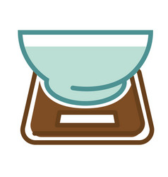 Scales with bowl vector