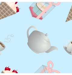 seamless pattern tasty vector image