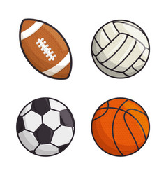 sport balls isolated icon vector image