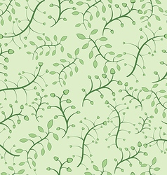 Stylish floral seamless pattern in green colors vector image
