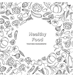 Vegetable background healthy food frame decor vector