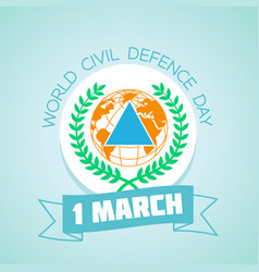 1 march world civil defence day vector image vector image