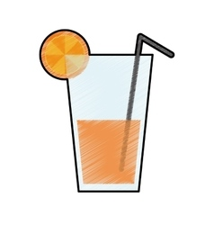Orange fruit juice icon image vector
