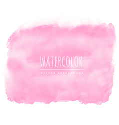 Light pink watercolor stain background vector