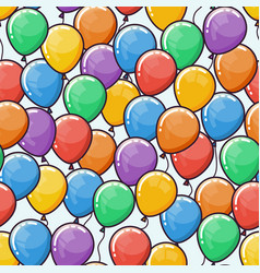 Seamless pattern with multicolored ballons vector