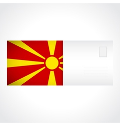 Envelope with macedonian flag card vector