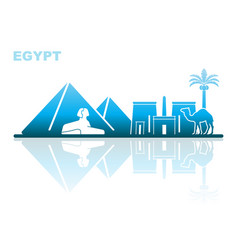 Attractions egypt abstract landscape vector
