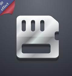 Compact memory card icon symbol 3d style trendy vector