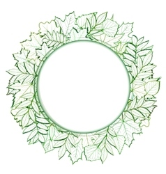 Fresh green leaves border vector