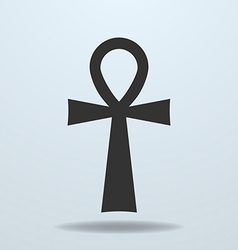 Egyptian cross ankh symbol icon vector image