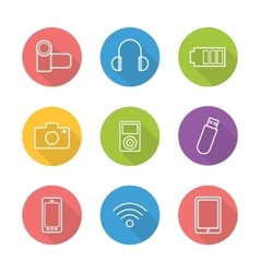 Consumer electronics icons vector