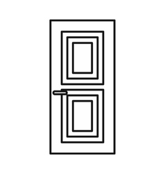 Door icon outline style vector
