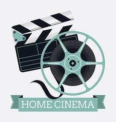 Home cinema banner vector