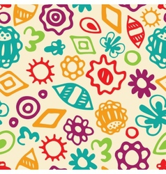 abstract floral pattern vector image