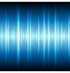 Blue glowing tech waveform equalizer background vector